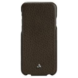 Vaja Top Leather Case iPhone 6/6S - Dark Brown/Birch