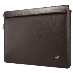 """Vaja Leather Sleeve Case MacBook 12"""" - Dark Brown"""