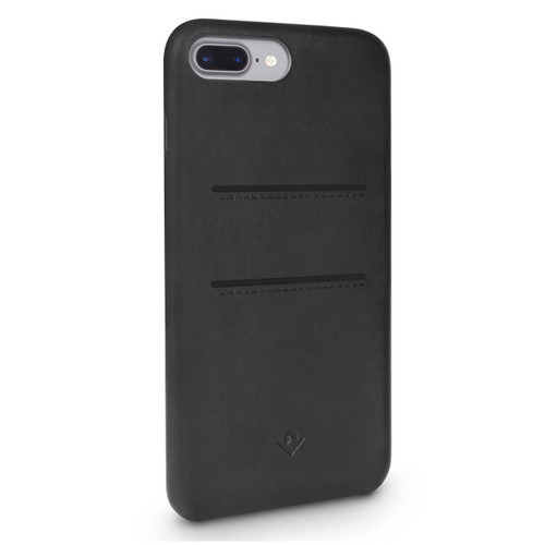 Twelve-South Relaxed Leather w/pockets Case iPhone 8+/7+/6+/6S+ Plus - Black