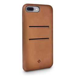 Twelve-South Relaxed Leather w/pockets Case iPhone 8+/7+/6+/6S+ Plus - Cognac