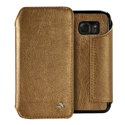 Vaja Leather Agenda Case Samsung Galaxy S7 - Old Gold