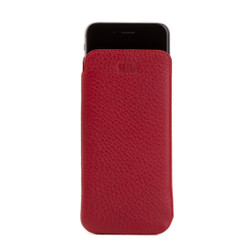 Sena Ultraslim Classic Leather Pouch iPhone 8/7 - Red