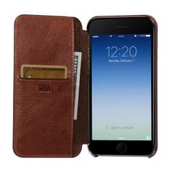 Sena Ultra Thin Wallet Book iPhone 8/7 - Cognac