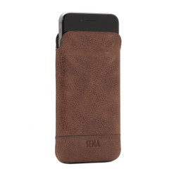 Sena Ultraslim Heritage Leather Pouch iPhone 8/7 - Cognac