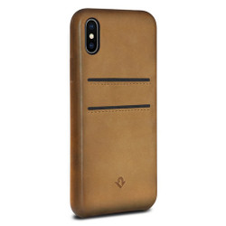 Twelve-South Relaxed Leather w/ pockets Case iPhone X - Cognac