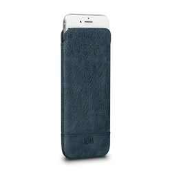 SENA Ultraslim Heritage Leather Pouch iPhone 8+/7+/6+/6S+ Plus - Denim