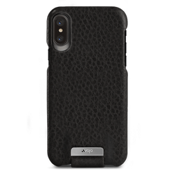Vaja Top Leather Case iPhone X/Xs - Floater Black