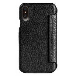 Vaja Agenda MG Leather Case iPhone X/Xs - Floater Black