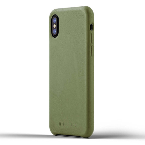 Mujjo Full Leather Case iPhone X/Xs - Olive
