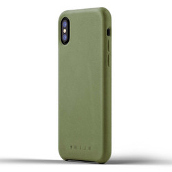 Mujjo Full Leather Case iPhone X - Olive
