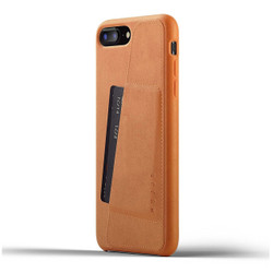 Mujjo Full Leather Wallet Case iPhone 8+ Plus - Tan