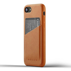 Mujjo Full Leather Wallet Case iPhone 8 - Tan
