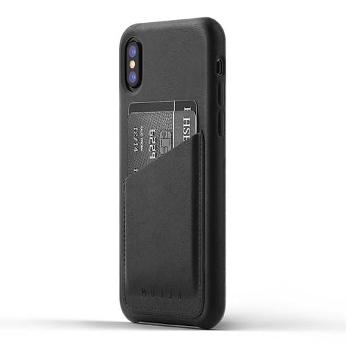 Mujjo Full Leather Wallet Case iPhone X/Xs - Black