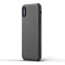 Mujjo Full Leather Case iPhone X/Xs - Grey