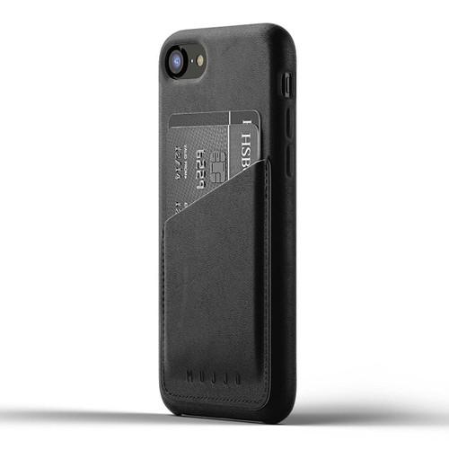 Mujjo Full Leather Wallet Case iPhone 8 - Black