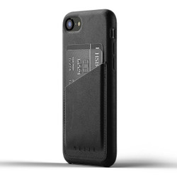 Mujjo Full Leather Wallet Case iPhone 8 - Black