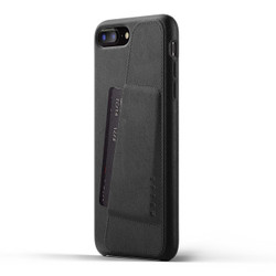 Mujjo Full Leather Wallet Case iPhone 8+ Plus - Black