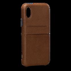 SENA Bence Snap-on Wallet Case iPhone X - Brown