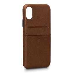 SENA Bence Snap-on Wallet Case iPhone X/Xs - Brown