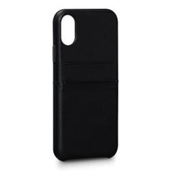 SENA Bence Snap-on Wallet Case iPhone X - Black