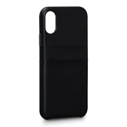 SENA Bence Snap-on Wallet Case iPhone X/Xs - Black