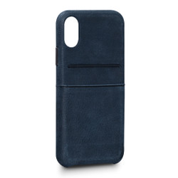 SENA Bence Snap-on Wallet Case iPhone X/Xs - Denim Blue