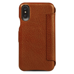Vaja Agenda MG Leather Case iPhone X - Bridge Saddle Tan