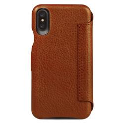Vaja Agenda MG Leather Case iPhone X/Xs - Bridge Saddle Tan