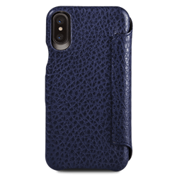 Vaja Agenda MG Leather Case iPhone X - Floater Crown Blue/True Blue