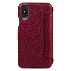 Vaja Agenda MG Leather Case iPhone X - Bridge Chili/London