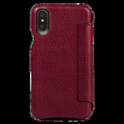 Vaja Agenda MG Leather Case iPhone X/Xs - Bridge Chili/London