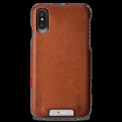 Vaja Grip Leather Case iPhone X/Xs - Bridge Saddle Tan