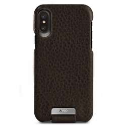 Vaja Top Leather Case iPhone X/Xs - Floater Dark Brown/Birch