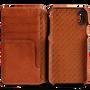 Vaja Wallet Agenda Leather Case iPhone X/Xs - Bridge Saddle Tan