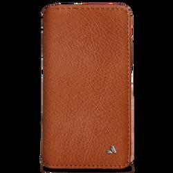 Vaja Wallet Agenda Leather Case iPhone X - Bridge Saddle Tan