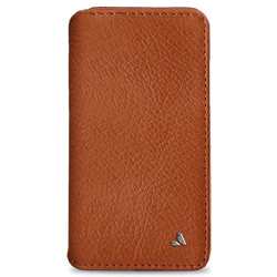 Vaja Wallet Agenda Leather Case iPhone X/Xs - Bridge Saddle Tan