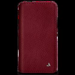 Vaja Wallet Agenda Leather Case iPhone X/Xs - Bridge Chili/London