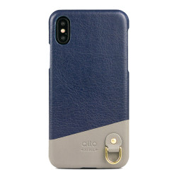 Alto Anello Leather Case iPhone X/Xs - Navy