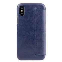 Alto Foglia Leather Case iPhone X/Xs - Navy