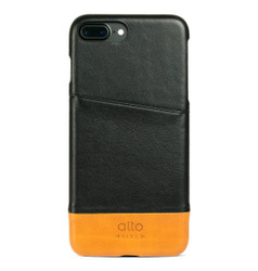 Alto Metro Leather Case iPhone 8+/7+ Plus - Raven/Caramel