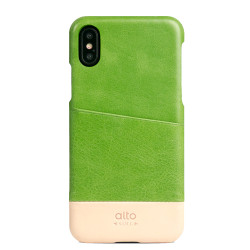 Alto Metro Leather Case iPhone X/Xs - Lime/Original