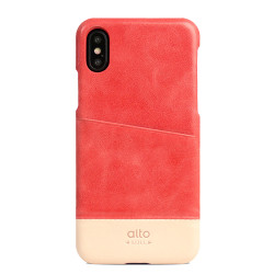 Alto Metro Leather Case iPhone X/Xs - Coral/Original