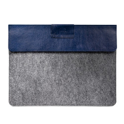 "Alto Leather Sleeve Case iPad Pro 12.9""/MacBook Air 13"" - Navy/Grey"