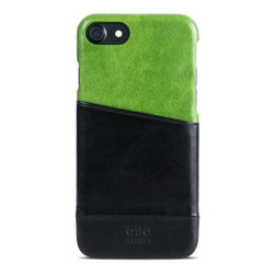 Alto Metro Leather Case iPhone 8/7 - Lime/Raven