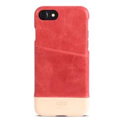 Alto Metro Leather Case iPhone 8/7 - Coral/Original