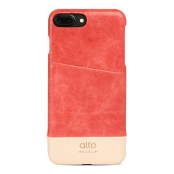Alto Metro Leather Case iPhone 8+/7+ Plus - Coral/Original