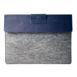 "Alto Leather Stand Sleeve Case iPad 9.7""/Pro 9.7""/Pro 10.5""/Air 2 - Navy/Grey"