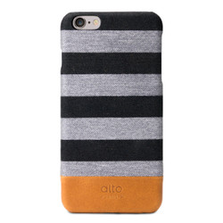 Alto Denim Leather Case iPhone 6+/6S+ Plus - Zebra Grey