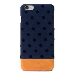 Alto Denim Leather Case iPhone 6+/6S+ Plus - Navy Bubble