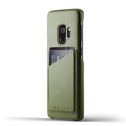 Mujjo Full Leather Wallet Case Samsung Galaxy S9 - Olive